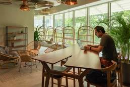 working at dojo coworking space